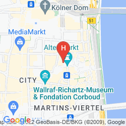 Karte CITYCLASS HOTEL RESIDENCE AM DOM