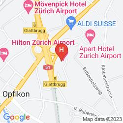 Karte APART-HOTEL ZURICH AIRPORT