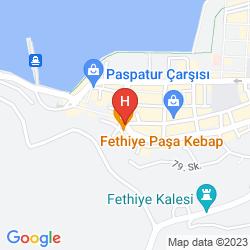 Karte DOWNTOWN FETHIYE HOSTEL & ROOMS