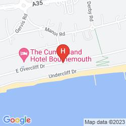 Karte HALLMARK HOTEL BOURNEMOUTH EAST CLIFF