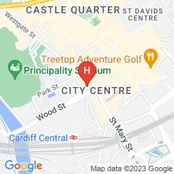 Karte THE ROYAL HOTEL CARDIFF