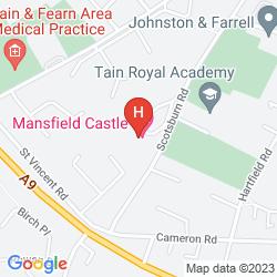 Karte MANSFIELD CASTLE HOTEL