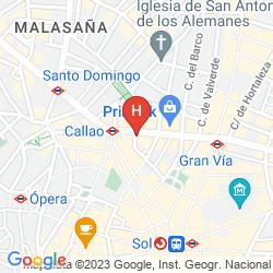 Karte ATLANTICO MADRID