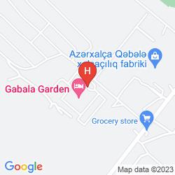 Karte QAFQAZ SPORT RESORT HOTEL