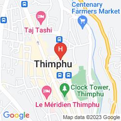 Karte CITY HOTEL THIMPHU