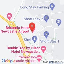 Karte BRITANNIA HOTEL NEWCASTLE AIRPORT