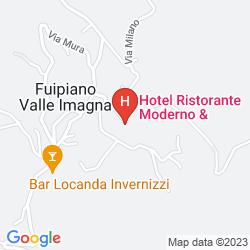 Karte ALBERGO RISTORANTE MODERNO