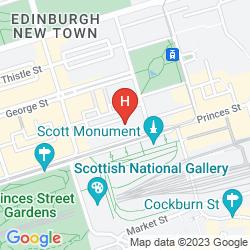 Karte MERCURE EDINBURGH CITY - PRINCES STREET