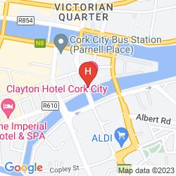 Karte CLAYTON HOTEL CORK CITY