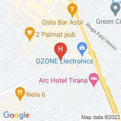 Karte PARK HOTEL TIRANA
