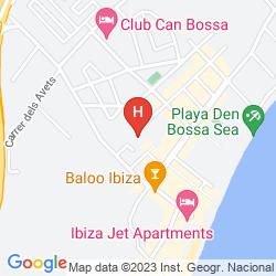 Karte APARTAMENTOS ATZARÓ