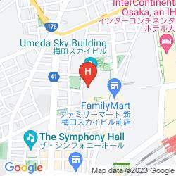 Karte THE WESTIN OSAKA