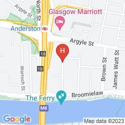 Karte GLASGOW ARGYLE HOTEL, BW SIGNATURE COLLECTION