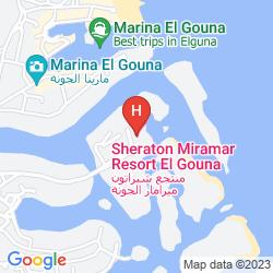 Karte SHERATON MIRAMAR RESORT EL GOUNA