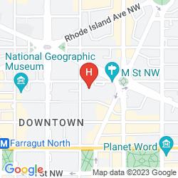 Karte THE MADISON THE WASHINGTON DC, A HILTON HOTEL