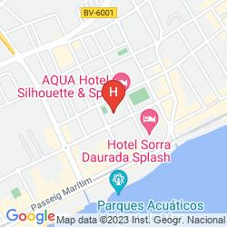 Karte AQUA HOTEL SILHOUETTE & SPA - ADULTS ONLY