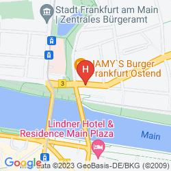 Karte CENTRAL FRANKFURT