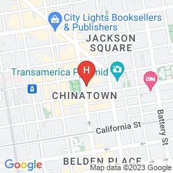 Karte HILTON SAN FRANCISCO FINANCIAL DISTRICT