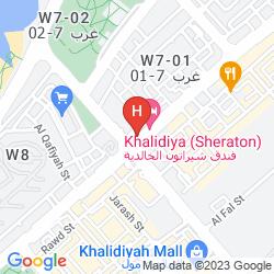 Karte SHERATON KHALIDIYA