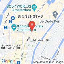 Karte NH COLLECTION AMSTERDAM GRAND HOTEL KRASNAPOLSKY