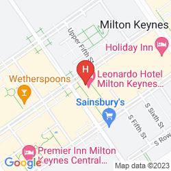 Karte JURYS INN MILTON KEYNES