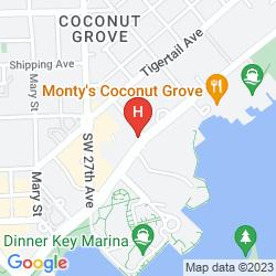 Karte MARRIOTT COURTYARD HOTEL COCONUT GROVE