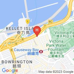 Karte THE EXCELSIOR HONG KONG