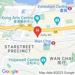 Karte THE WHARNEY GUANG DONG HOTEL HONG KONG