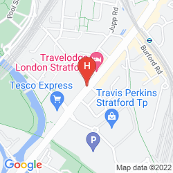 Karte HOLIDAY INN EXPRESS LONDON - STRATFORD