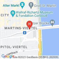 Karte MARITIM HOTEL KOELN