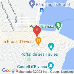 Karte GRAN HOTEL MONTESOL IBIZA, CURIO COLLECTION BY HILTON