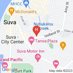 Karte CAPRICORN APARTMENT HOTEL SUVA