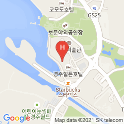 Karte HILTON GYEONGJU