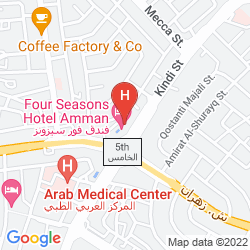 Karte SHERATON AMMAN AL NABIL HOTEL