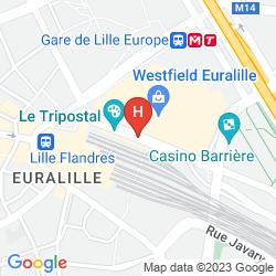 Karte CITADINES CITY CENTRE LILLE