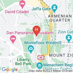 Karte PRIMA PARK HOTEL JERUSALEM