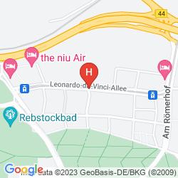 Karte IBIS FRANKFURT CITY MESSE