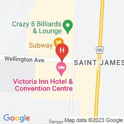 Karte HILTON SUITES WINNIPEG AIRPORT