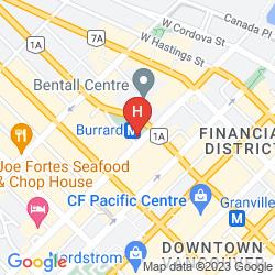 Karte HYATT REGENCY VANCOUVER