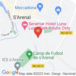 Karte AZULINE HOTEL BAHAMAS & BAHAMAS II
