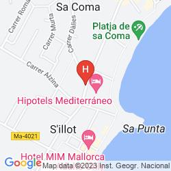 Karte HIPOTELS MEDITERRANEO