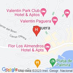 Karte APARTAMENTOS BON AIRE