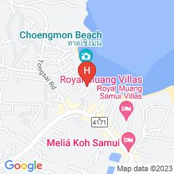 Karte SALA SAMUI CHOENGMON BEACH