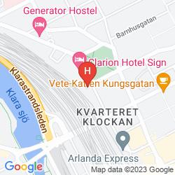 Karte CLARION HOTEL SIGN