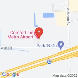 Karte COMFORT INN METRO AIRPORT