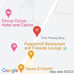 Karte CIRCUS CIRCUS LAS VEGAS HOTEL AND CASINO