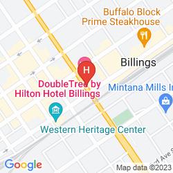 Karte CROWNE PLAZA BILLINGS