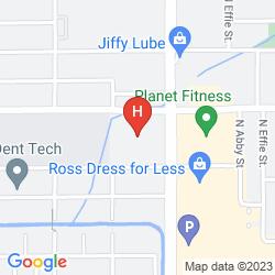 Karte THE HOTEL FRESNO