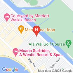 Karte AQUA ALOHA SURF WAIKIKI