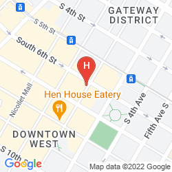 Karte CROWNE PLAZA NORTH STAR HOTEL